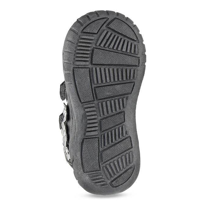 Dievčenské členkové topánky s kytičkami bubblegummers, šedá, 121-2622 - 18