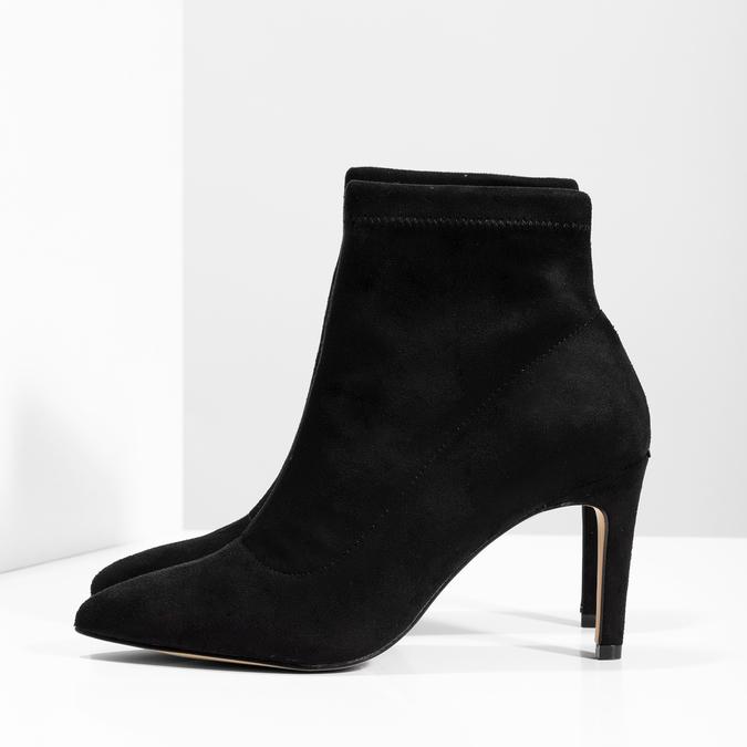 Členkové dámske čižmy na ihličkovom podpätku bata, čierna, 799-6620 - 16