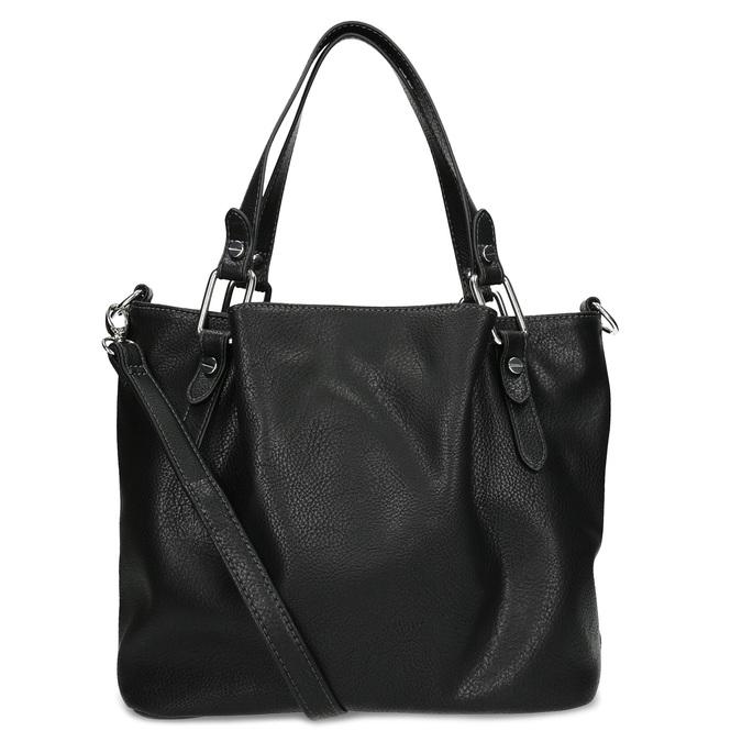 Čierna kabelka s prešitím gabor-bags, čierna, 961-6064 - 16