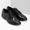 Čierne dámske kožené poltopánky bata, čierna, 524-6666 - 26