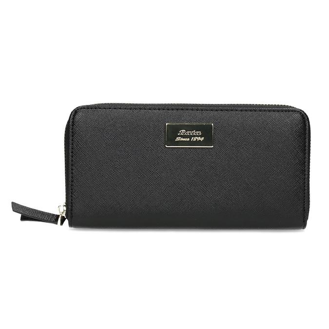 Čierna dámska peňaženka na zips bata, čierna, 941-6223 - 26