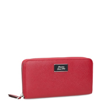 Červená dámska peňaženka na zips bata, červená, 941-5223 - 13