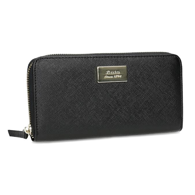 Čierna dámska peňaženka na zips bata, čierna, 941-6223 - 13
