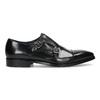 Pánske kožené Monk Shoes poltopánky bata, čierna, 824-6613 - 19