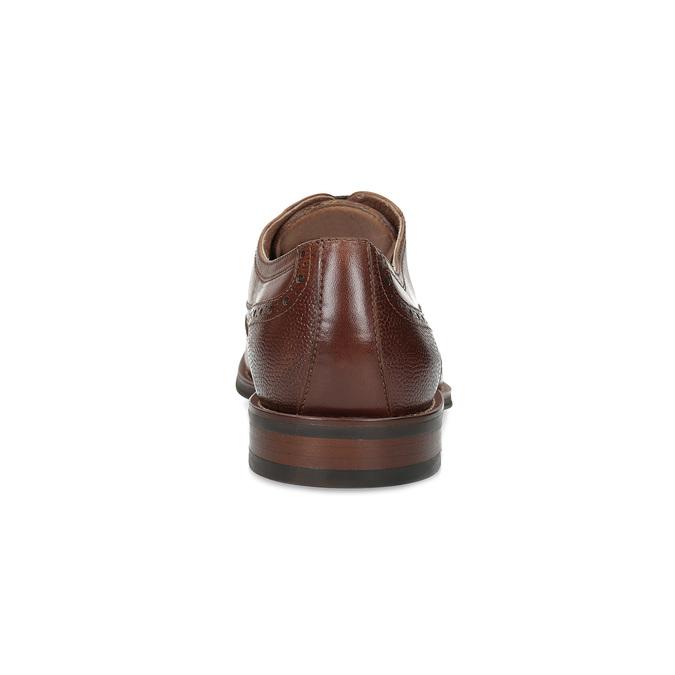 Kožené Oxford poltopánky s Brogue zdobením bata, hnedá, 826-3785 - 15