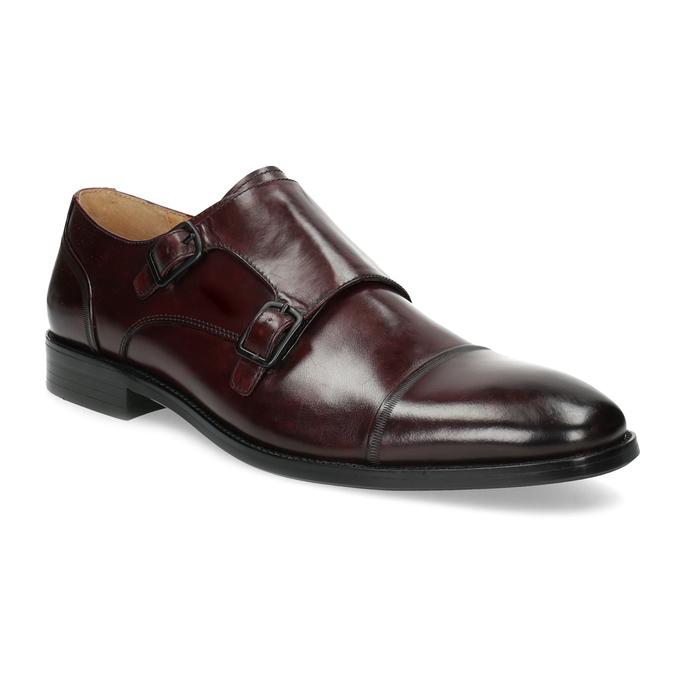 Pánske kožené Monk Shoes poltopánky bata, červená, 826-5738 - 13