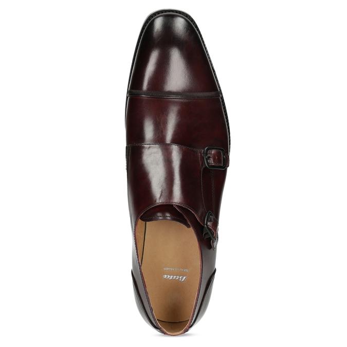 Pánske kožené Monk Shoes poltopánky bata, červená, 826-5738 - 17