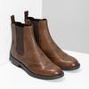 Dámska hnedá kožená Chelsea obuv vagabond, hnedá, 514-3002 - 26