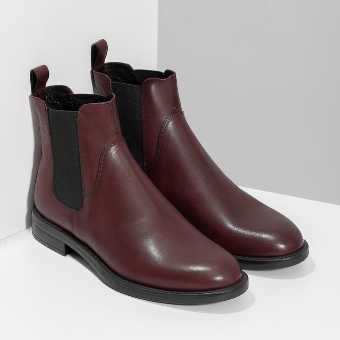Hnedá kožená dámska Chelsea obuv vagabond, hnedá, 516-4130 - 26
