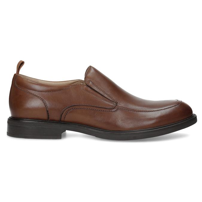 Hnedé kožené pánske mokasíny bata, hnedá, 816-3628 - 19