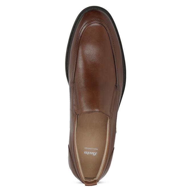 Hnedé kožené pánske mokasíny bata, hnedá, 816-3628 - 17