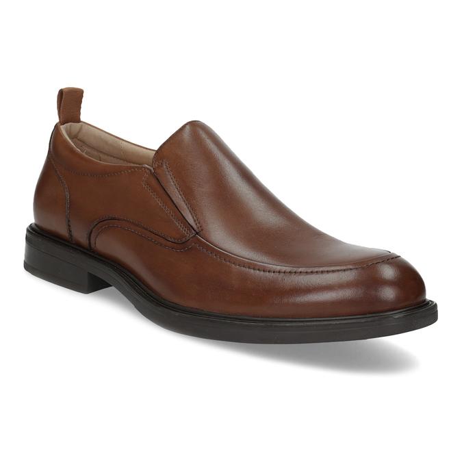 Hnedé kožené pánske mokasíny bata, hnedá, 816-3628 - 13
