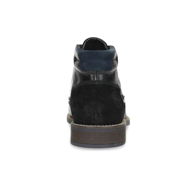 Členková pánska kožená obuv bata, čierna, 826-6611 - 15