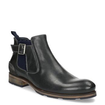 Čierna kožená Chelsea obuv s prackou bata, čierna, 826-6781 - 13