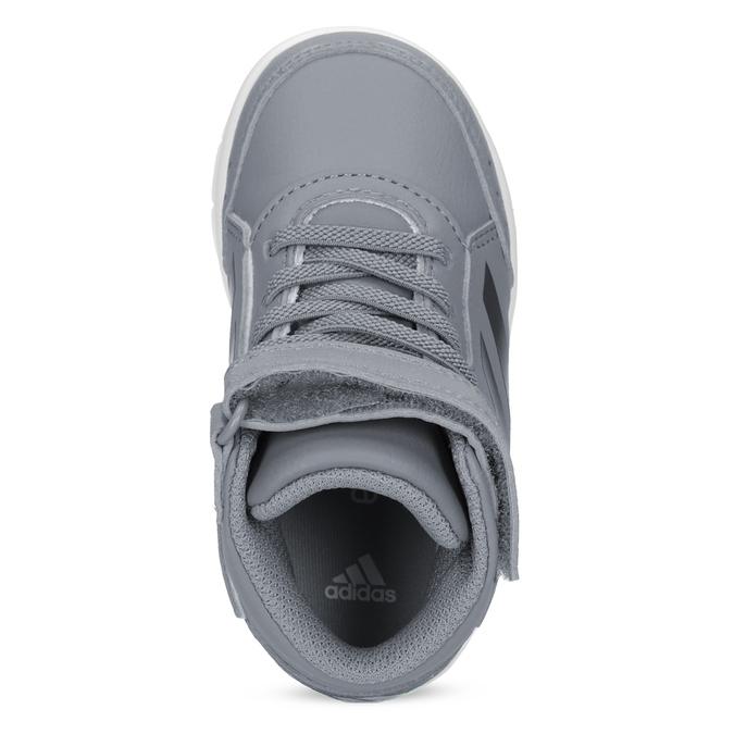 Šedé členkové detské tenisky na suchý zips adidas, šedá, 101-2220 - 17