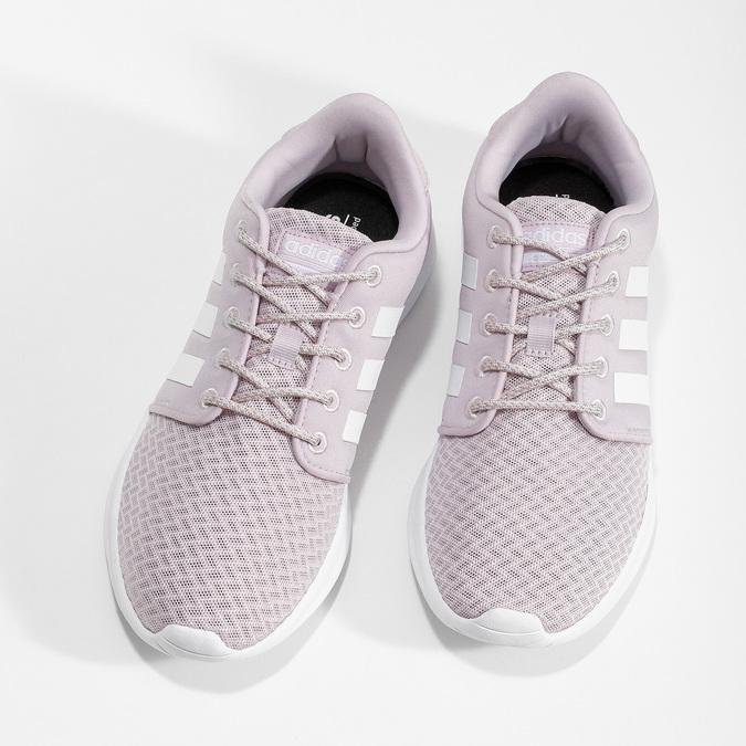 Dámske ružové tenisky s bielou podrážkou adidas, ružová, 501-5103 - 16