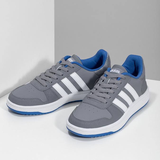Šedé detské ležérne tenisky adidas, šedá, 401-2337 - 16