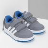 Šedé detské tenisky s modrými detailami adidas, šedá, 101-2194 - 26