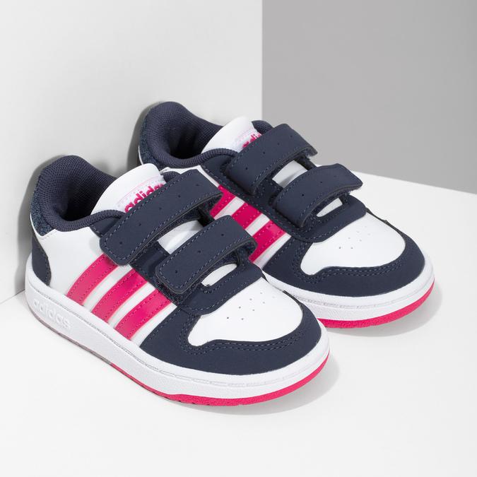 Biele detské tenisky na suchý zips adidas, viacfarebné, 101-1194 - 26