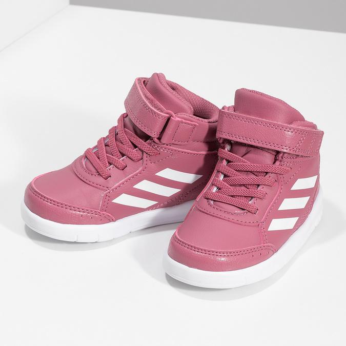 Ružové členkové detské tenisky adidas, ružová, 101-5220 - 16