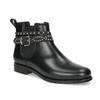 Členkové dámske gumáky s prackou bata, čierna, 592-6601 - 13