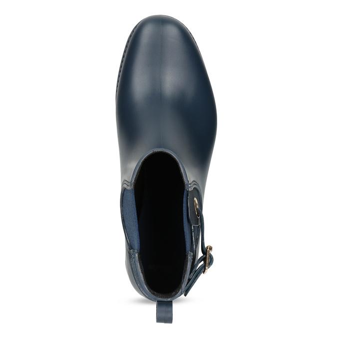 Dámske modré členkové gumáky bata, modrá, 592-9600 - 17