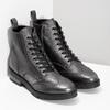Dámska kožená metalická členková obuv flexible, strieborná, 596-6695 - 26