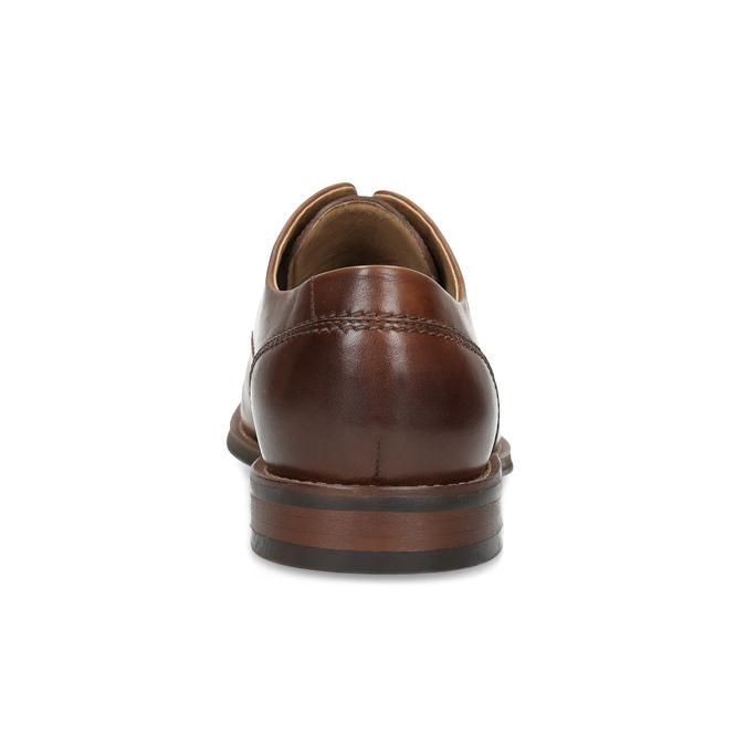 Hnedé kožené poltopánky v Derby štýle bata, hnedá, 826-3786 - 15
