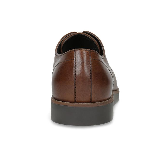 Kožené pánske hnedé derby poltopánky flexible, hnedá, 826-4768 - 15
