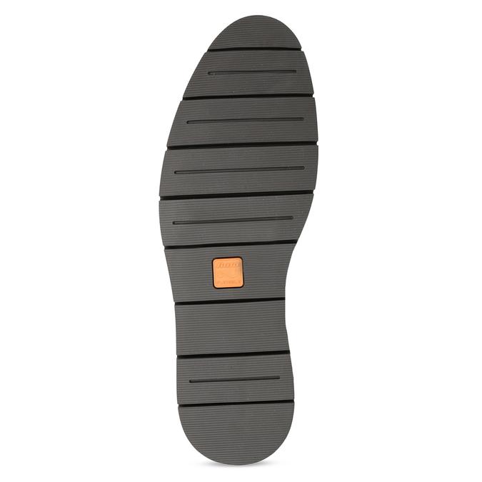 Kožené pánske hnedé derby poltopánky flexible, hnedá, 826-4768 - 18