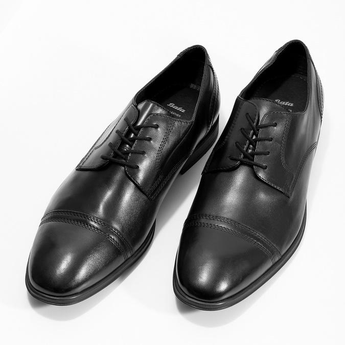 Pánske čierne kožené Derby poltopánky bata, čierna, 824-6891 - 16