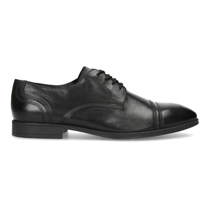 Pánske čierne kožené Derby poltopánky bata, čierna, 824-6891 - 19
