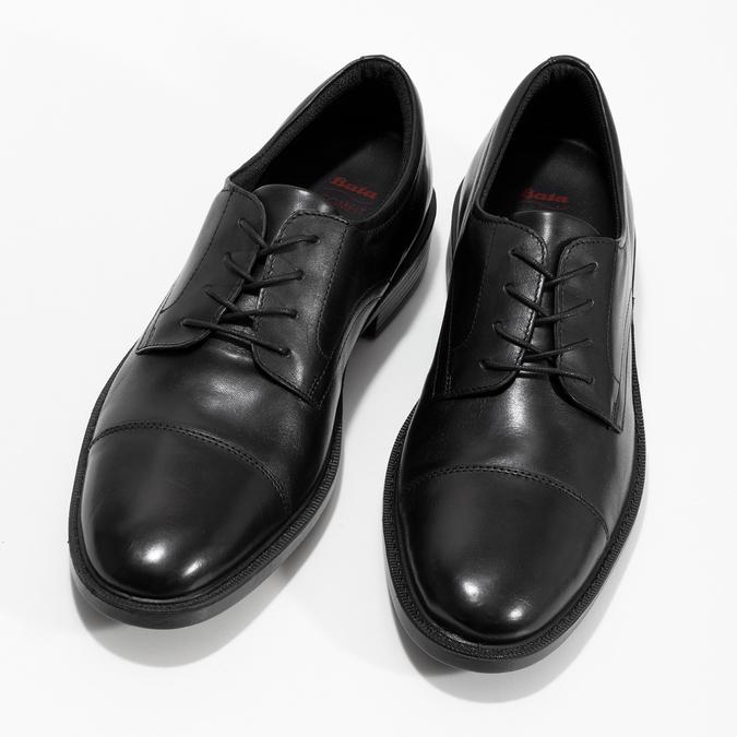 Pánske kožené poltopánky čierne comfit, čierna, 824-6820 - 16