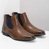 Pánska kožená obuv v štýle Chelsea bata, hnedá, 826-3865 - 26