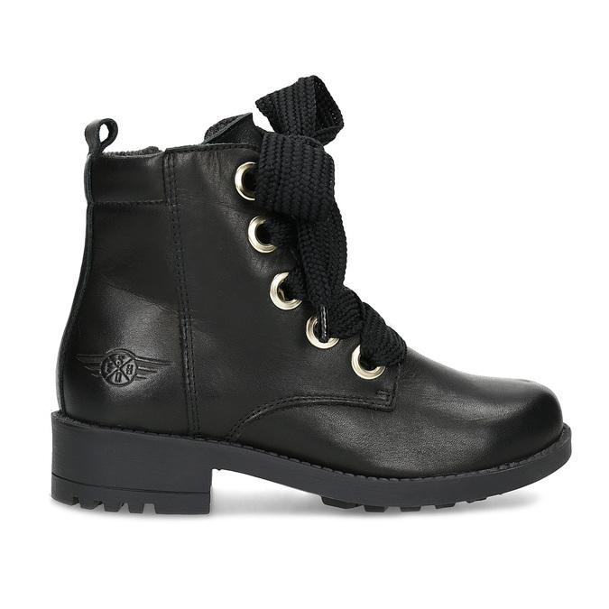 Kožená členková detská obuv mini-b, čierna, 424-6600 - 19