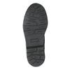 Členková kožená detská obuv so vzorom mini-b, hnedá, 426-4560 - 18