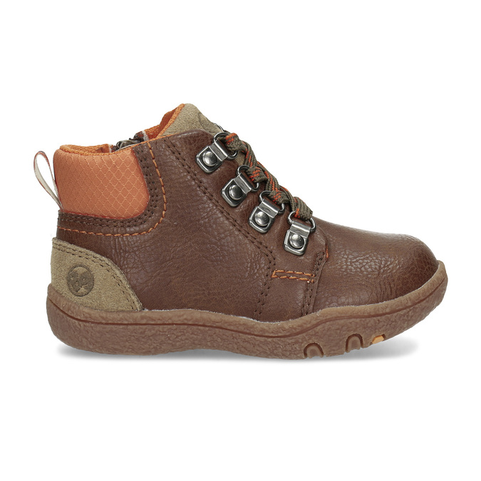 Chlapčenská členková hnedá obuv bubblegummers, hnedá, 111-4629 - 19