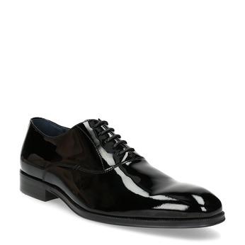 Pánske lakované kožené Oxford poltopánky bata, čierna, 828-6608 - 13