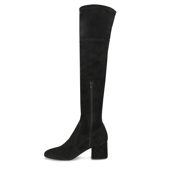 Čierne čižmy na stabilnom podpätku bata, čierna, 793-6614 - 17