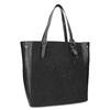 Čierna kabelka v štýle Tote s kamienkami bata, čierna, 969-6875 - 13