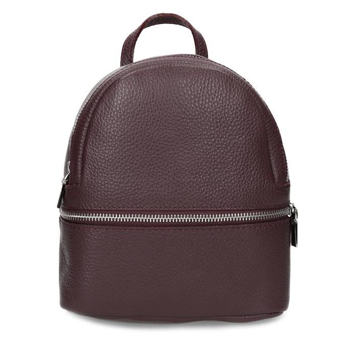 Kožený vínový mestský batôžtek bata, červená, 964-5301 - 26