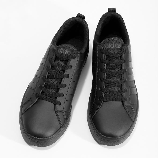 Čierne pánske tenisky s rovnou podrážkou adidas, čierna, 801-6236 - 16