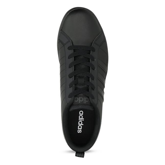 Čierne pánske tenisky s rovnou podrážkou adidas, čierna, 801-6236 - 17
