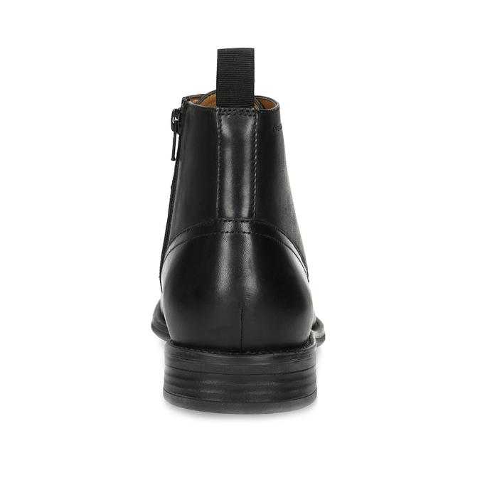 Pánska čierna kožená členková obuv vagabond, čierna, 824-6238 - 15