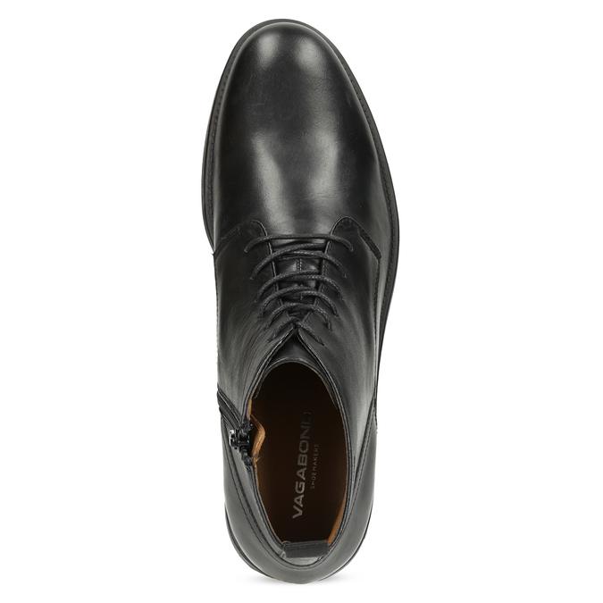 Pánska čierna kožená členková obuv vagabond, čierna, 824-6238 - 17