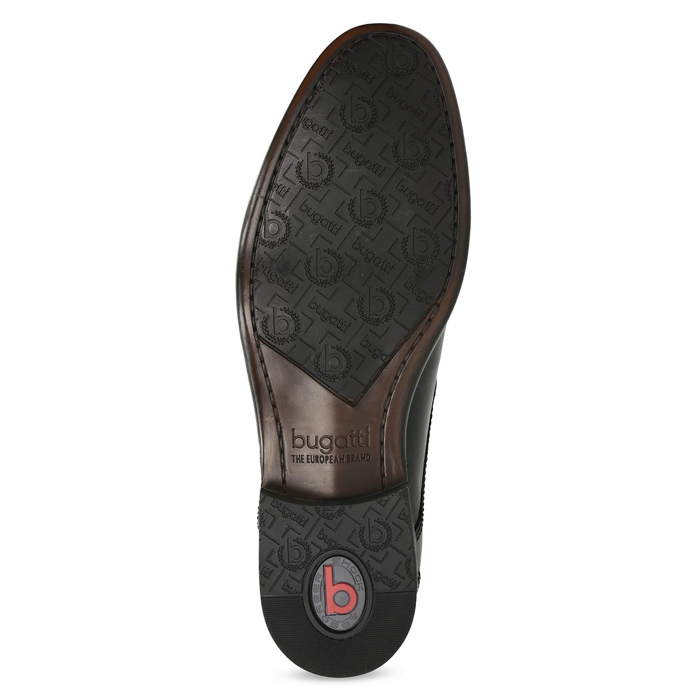 Bugatti Kožené čierne derby pánske poltopánky - Všetky topánky  8d84ed7e559