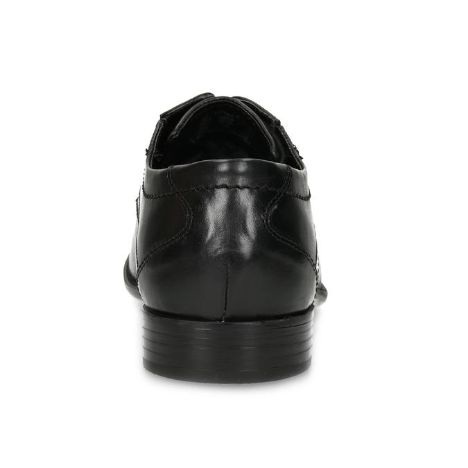 Kožené čierne derby pánske poltopánky bugatti, čierna, 824-6087 - 15
