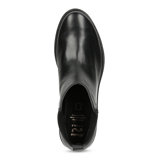 Kožené dámske čierne Chelsea flexible, čierna, 594-6667 - 17