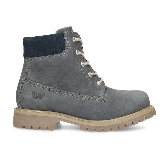 Kožená detská členková obuv weinbrenner-junior, modrá, 416-9608 - 19