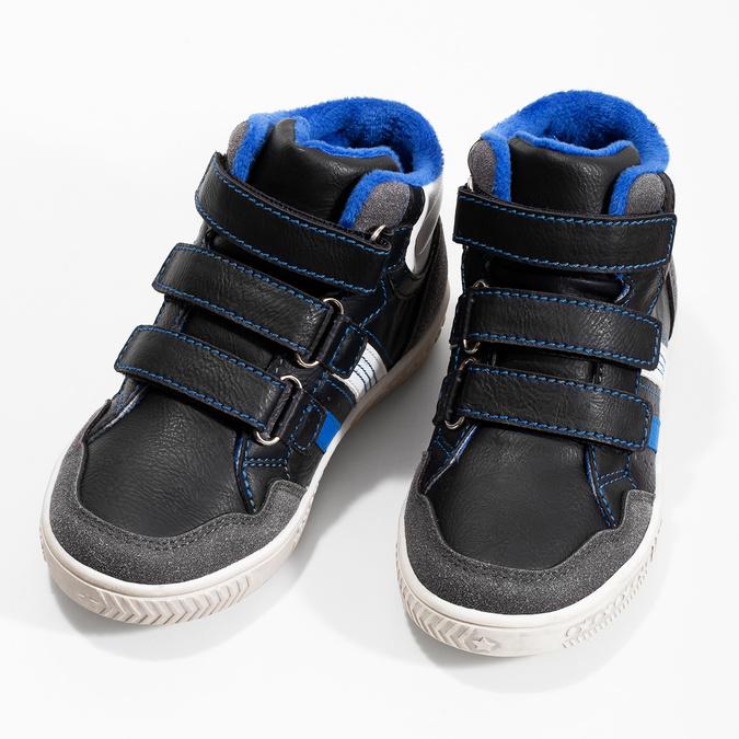 Členkové detské tenisky na suché zipsy mini-b, čierna, 211-6627 - 16